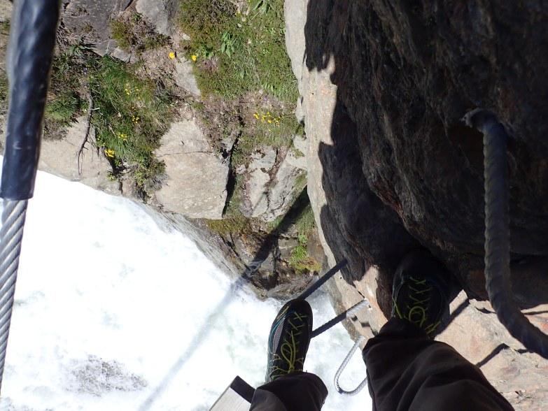 Foto: Manfred Karl / Klettersteigtour / Holderli Seppl Klettersteig / In der ersten Steilstufe / 06.12.2019 06:28:24