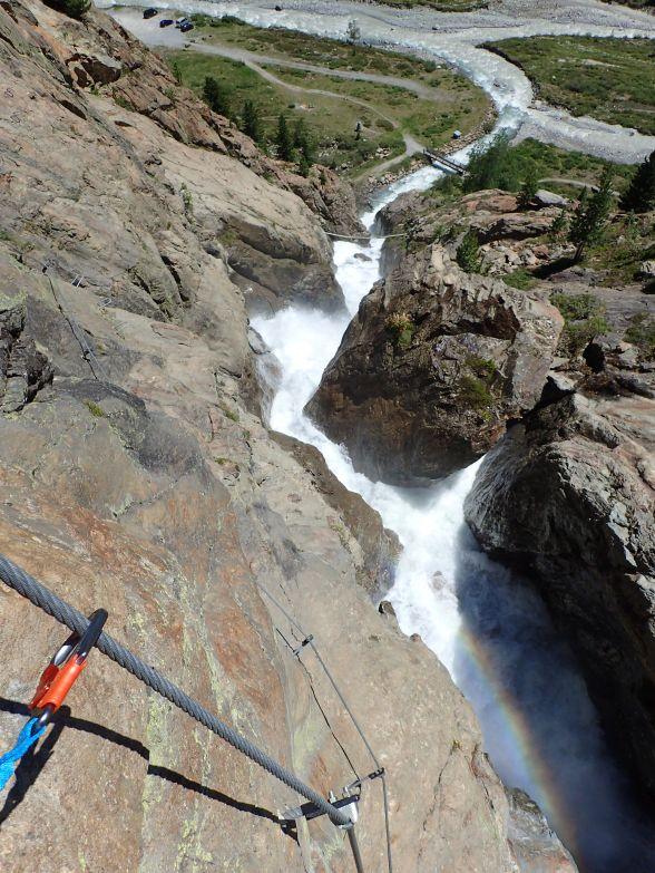 Foto: Manfred Karl / Klettersteigtour / Holderli Seppl Klettersteig / Eindrucksvolle Schlucht / 06.12.2019 06:25:53
