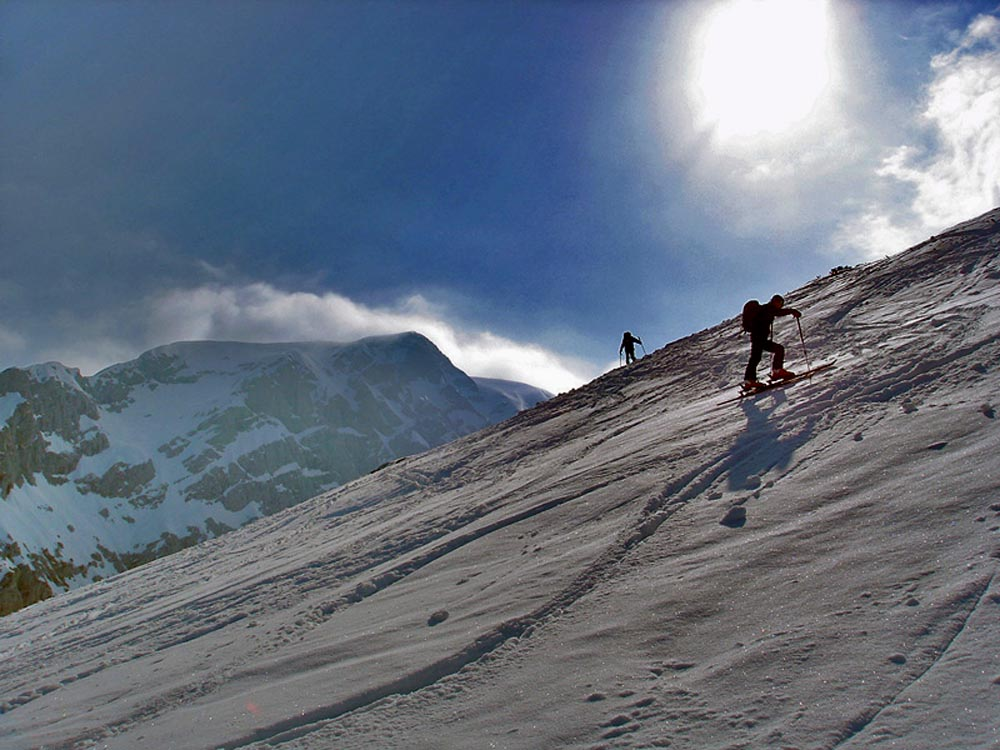 Foto: Rupert Gredler / Skitour / Das Hohe Brett / Es ist steil / 22.03.2020 14:42:06