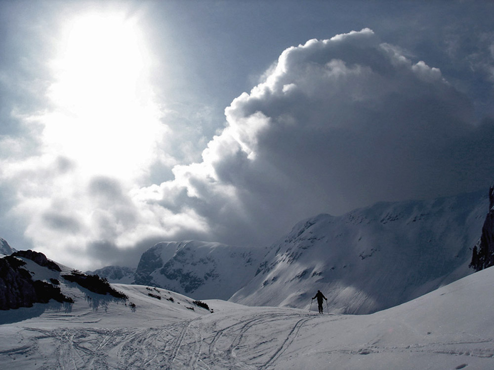 Foto: Rupert Gredler / Skitour / Das Hohe Brett / Das Ende des Alpltales / 22.03.2020 14:41:03