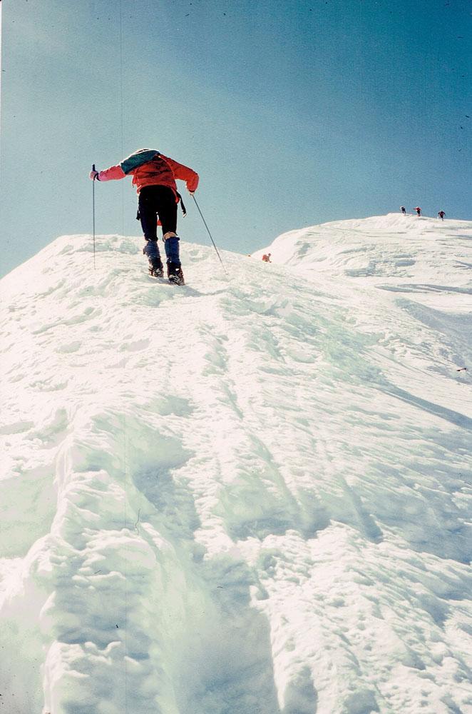 Foto: Rupert Gredler / Skitour / Das Strahlhorn von Saas Fee aus / Vom Adlerpass zum Gipfel / 24.05.2020 15:38:05