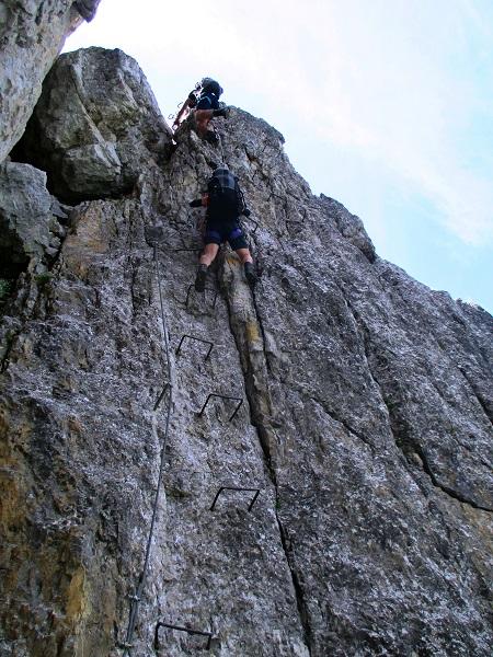 Foto: Andreas Koller / Klettersteigtour / Nordwand-Klettersteig Elferturm (2499m) / Einstieg / 09.07.2020 18:41:50