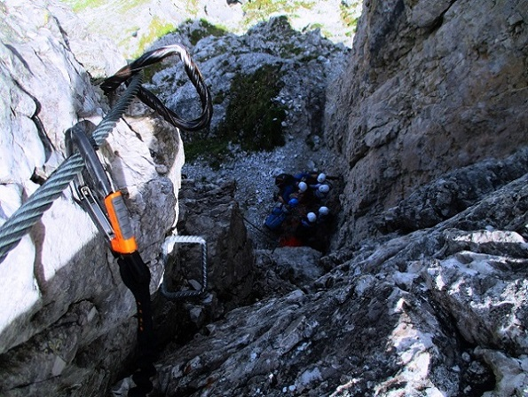 Foto: Andreas Koller / Klettersteigtour / Nordwand-Klettersteig Elferturm (2499m) / 09.07.2020 18:41:15