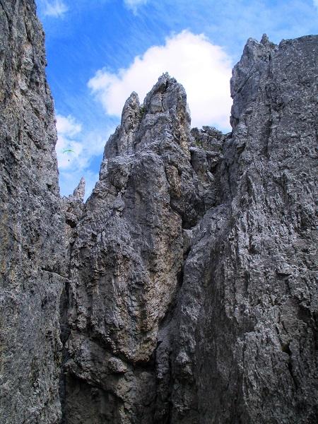 Foto: Andreas Koller / Klettersteigtour / Nordwand-Klettersteig Elferturm (2499m) / Aufstieg zur Schlusswand / 09.07.2020 18:38:24