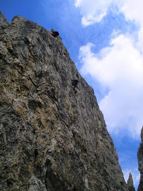 Foto: Andreas Koller / Klettersteigtour / Nordwand-Klettersteig Elferturm (2499m) / Schlusswand / 09.07.2020 18:38:00