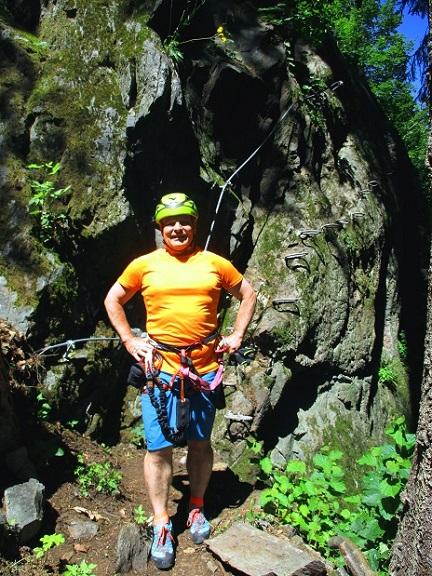 Foto: Andreas Koller / Klettersteigtour / Klettersteig Piburg (995m) / Beim Einstieg / 31.07.2020 01:45:43