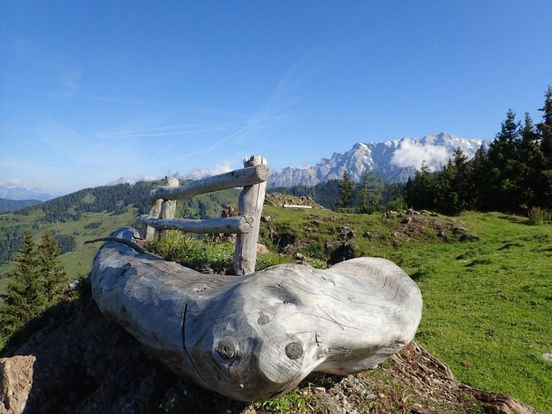 Foto: Manfred Karl / Wandertour / Schneebergkreuz von Goldeggweng / Originelle Rastbank / 14.10.2020 07:30:36