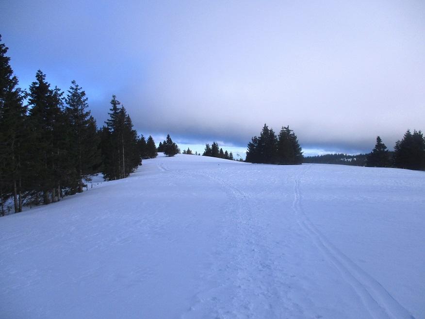 Foto: Andreas Koller / Schneeschuhtour / Hebalm - Klassiker Bärofen (1720m) / Abstieg vom Bärofen / 19.02.2021 03:10:47