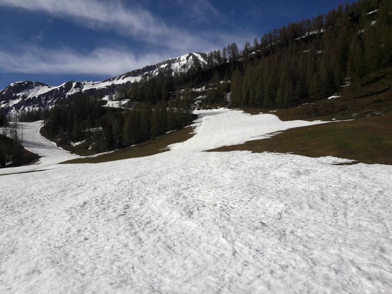 Foto: Rupert Gredler / Skitour / Schwarzkopf über den Nordrücken / Der unterste Hang / 21.02.2021 13:48:09