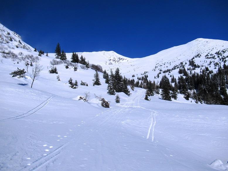 Foto: Andreas Koller / Skitour / Seitnerzinken Südroute (2164m) / Das weite Kar öffnet sich / 21.02.2021 00:56:56