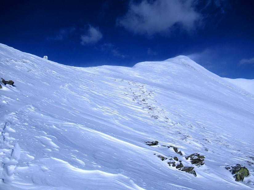 Foto: Andreas Koller / Skitour / Seitnerzinken Südroute (2164m) / SW-Grat Seitnerzinken / 21.02.2021 00:55:03