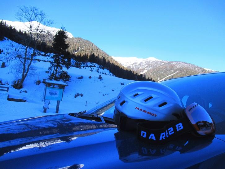 Foto: Andreas Koller / Skitour / Seitnerzinken Südroute (2164m) / Zurück beim Parkplatz Bichlerhütte / 21.02.2021 00:51:50