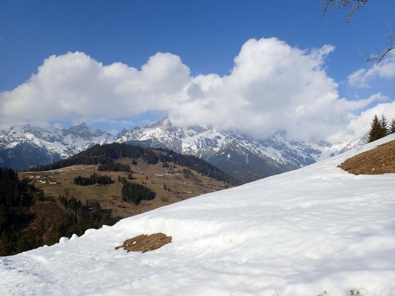Foto: Manfred Karl / Skitour / Gabühel von Hintermoos / Schönfeldspitze; Selbhorn in Wolken / 22.03.2021 06:48:47
