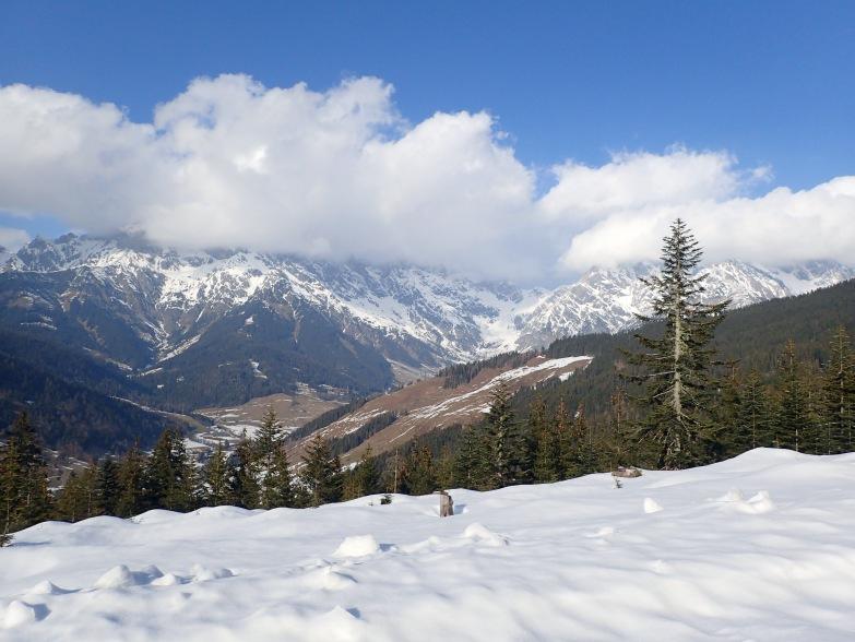 Foto: Manfred Karl / Skitour / Gabühel von Hintermoos / Blick Richtung Steinernes Meer und Torscharte / 22.03.2021 06:46:45