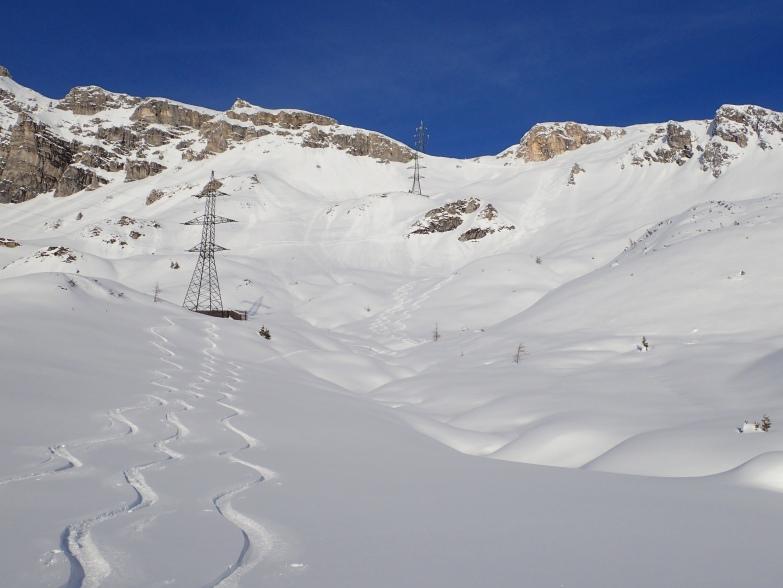 Foto: Manfred Karl / Skitour / Taferlnock Rundtour von der Muhreralm / Die schönen Hänge unterhalb der Taferlscharte / 30.04.2021 08:35:29