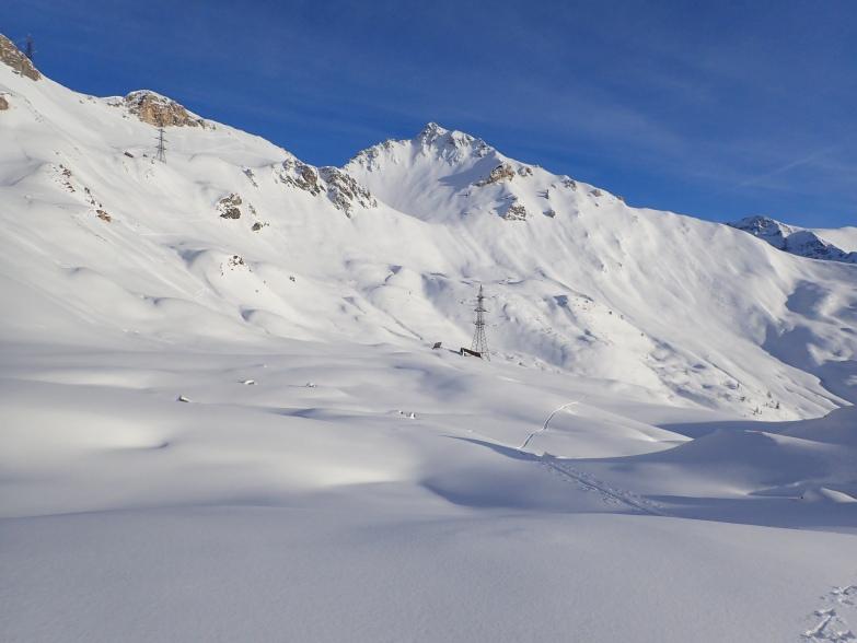 Foto: Manfred Karl / Skitour / Taferlnock Rundtour von der Muhreralm / Aufstieg zum Karkopf, im Hintergrund Stampferwand / 30.04.2021 08:34:05