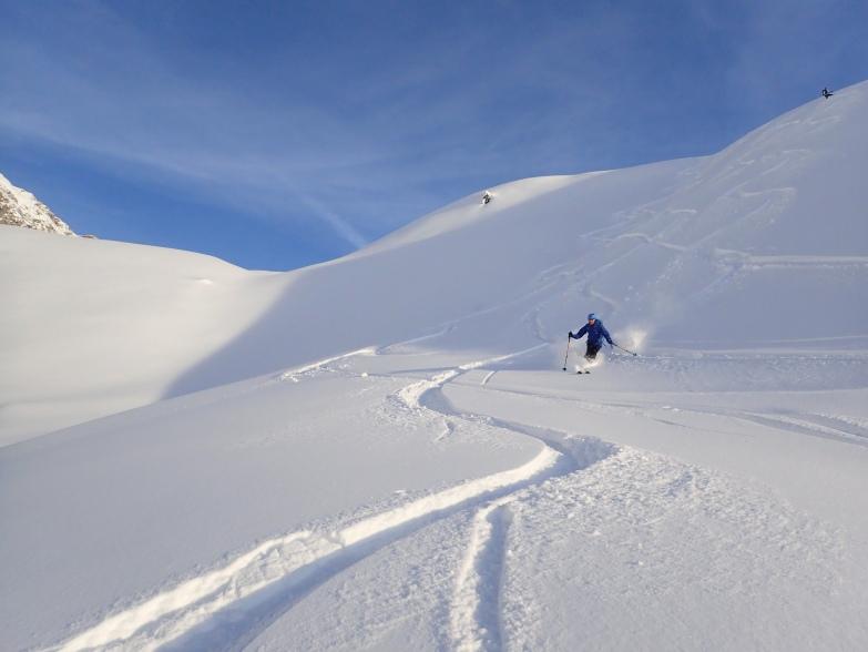Foto: Manfred Karl / Skitour / Taferlnock Rundtour von der Muhreralm / Auch die Abfahrt vom Karkopf ist schön / 30.04.2021 08:30:50