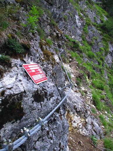 Foto: Andreas Koller / Klettersteigtour / Klettersteig Trafoi (1575m) / Einstieg / 02.05.2021 23:34:29