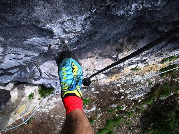 Foto: Andreas Koller / Klettersteigtour / Klettersteig Trafoi (1575m) / In der C-Stelle / 02.05.2021 23:32:57