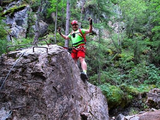 Foto: Andreas Koller / Klettersteigtour / Via ferrata du Torrent de la Combe (1575m) / 19.05.2021 02:29:15