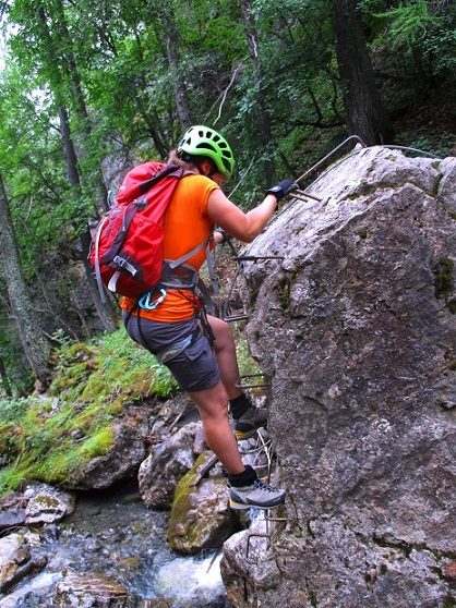 Foto: Andreas Koller / Klettersteigtour / Via ferrata du Torrent de la Combe (1575m) / 19.05.2021 02:28:57