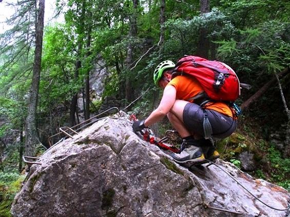 Foto: Andreas Koller / Klettersteigtour / Via ferrata du Torrent de la Combe (1575m) / 19.05.2021 02:28:43