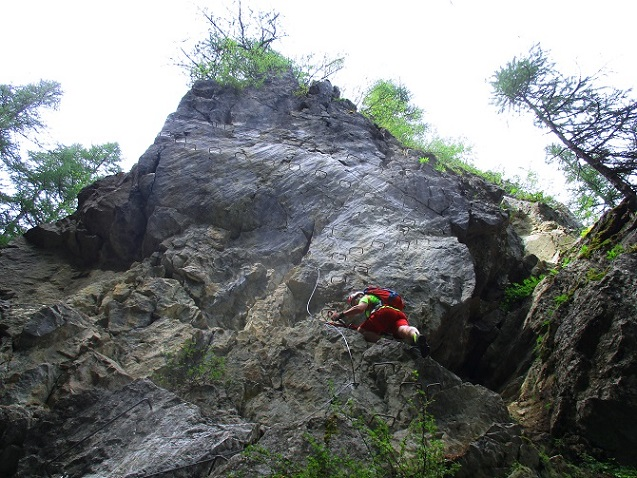 Foto: Andreas Koller / Klettersteigtour / Via ferrata du Torrent de la Combe (1575m) / 19.05.2021 02:26:39