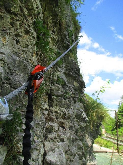 Foto: Andreas Koller / Klettersteigtour / Speedy Klettersteig Bad Eisenkappel (570m) / Einstieg / 07.06.2021 00:27:44