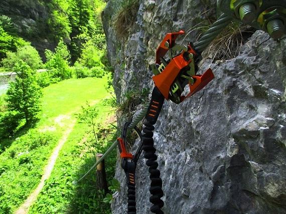 Foto: Andreas Koller / Klettersteigtour / Speedy Klettersteig Bad Eisenkappel (570m) / 07.06.2021 00:27:34