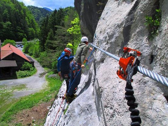 Foto: Andreas Koller / Klettersteigtour / Speedy Klettersteig Bad Eisenkappel (570m) / Begegnung der Kletterart / 07.06.2021 00:27:10