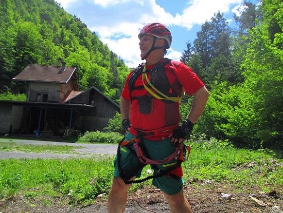 Foto: Andreas Koller / Klettersteigtour / Speedy Klettersteig Bad Eisenkappel (570m) / Ausstieg wieder bei der Vellach / 07.06.2021 00:26:30