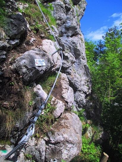Foto: Andreas Koller / Klettersteigtour / Koschlak Klettersteig Bad Eisenkappel (720m) / Einstieg / 07.06.2021 00:59:01