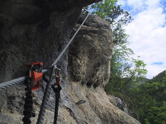 Foto: Andreas Koller / Klettersteigtour / Koschlak Klettersteig Bad Eisenkappel (720m) / 07.06.2021 00:57:06