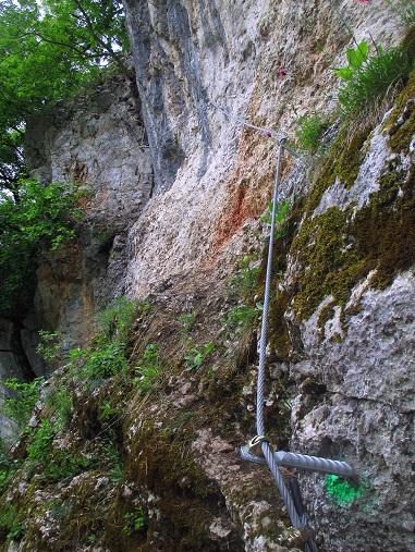 Foto: Andreas Koller / Klettersteigtour / Klettersteig Rabenstein (697m) / Einstieg / 11.06.2021 01:35:20