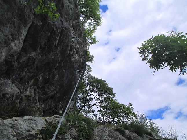 Foto: Andreas Koller / Klettersteigtour / Klettersteig Rabenstein (697m) / Schlüsselstelle / 11.06.2021 01:34:36