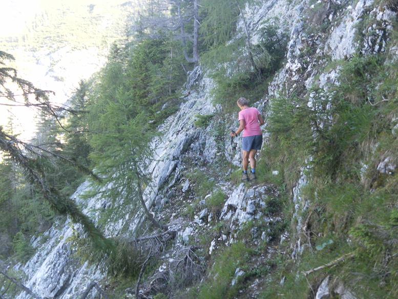 Foto: Wolfgang Lauschensky / Wandertour / Grünalmkogel 1821m über das Gimbachtal / exponierte Querung / 10.07.2021 20:42:29