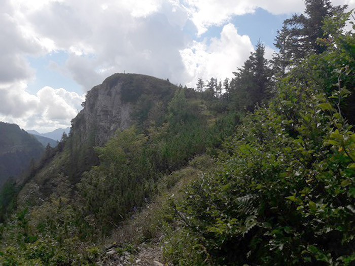 Foto: Rupert Gredler / Wandertour / Holzeck neuer Steig / Die letzten Meter zum Gipfel. / 15.09.2021 17:22:51
