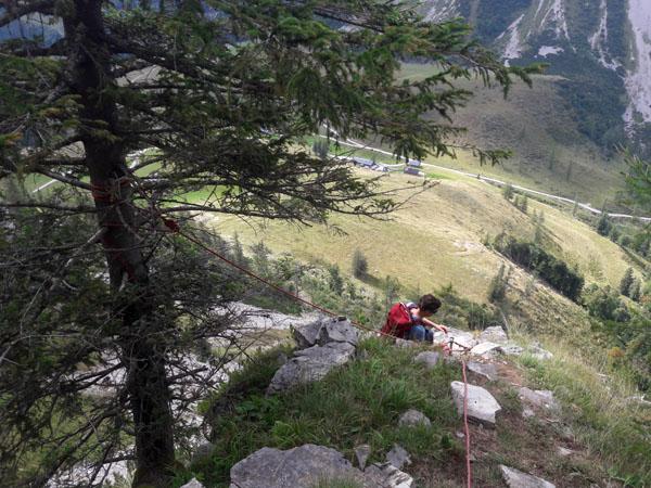 Foto: Rupert Gredler / Wandertour / Holzeck neuer Steig / Querung auf den Grat hinaus / 15.09.2021 17:17:07