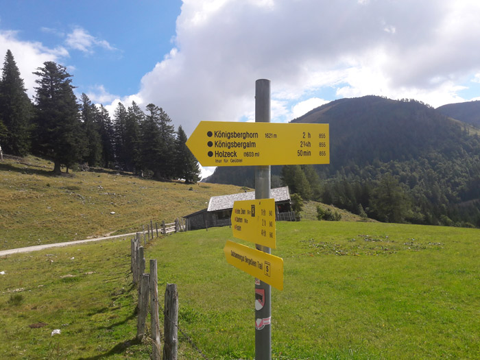 Foto: Rupert Gredler / Wandertour / Holzeck neuer Steig / An der Abzweigung / 15.09.2021 17:18:20