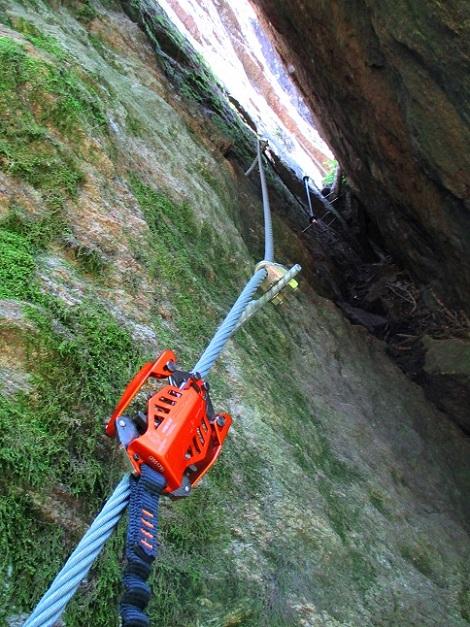 Foto: Andreas Koller / Klettersteigtour / Klettersteig Stuller Wasserfall (1320m) / 09.10.2021 17:26:30