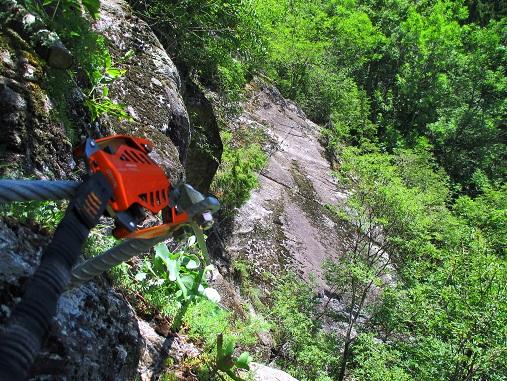 Foto: Andreas Koller / Klettersteigtour / Klettersteig Stuller Wasserfall (1320m) / 09.10.2021 17:26:06