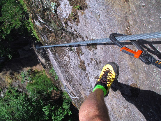 Foto: Andreas Koller / Klettersteigtour / Klettersteig Stuller Wasserfall (1320m) / 09.10.2021 17:26:02