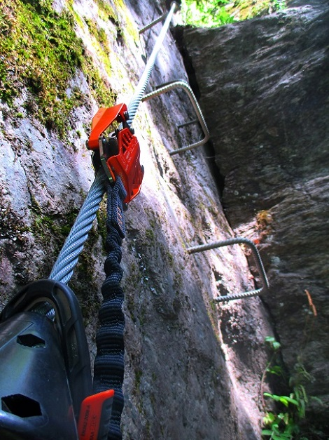 Foto: Andreas Koller / Klettersteigtour / Klettersteig Stuller Wasserfall (1320m) / 09.10.2021 17:25:57