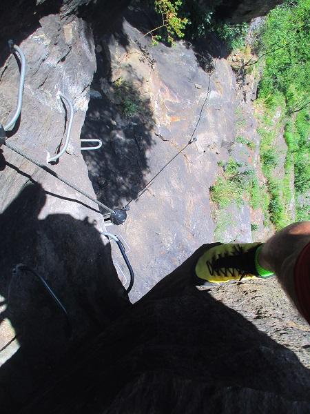 Foto: Andreas Koller / Klettersteigtour / Klettersteig Stuller Wasserfall (1320m) / 09.10.2021 17:25:15