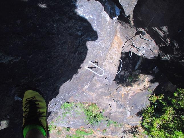 Foto: Andreas Koller / Klettersteigtour / Klettersteig Stuller Wasserfall (1320m) / 09.10.2021 17:25:08