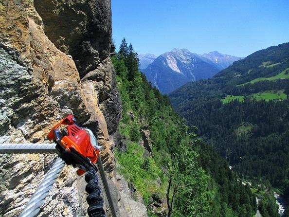 Foto: Andreas Koller / Klettersteigtour / Klettersteig Stuller Wasserfall (1320m) / 09.10.2021 17:24:10