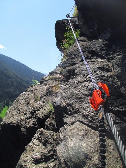 Foto: Andreas Koller / Klettersteigtour / Klettersteig Stuller Wasserfall (1320m) / 09.10.2021 17:23:20