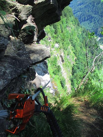 Foto: Andreas Koller / Klettersteigtour / Klettersteig Stuller Wasserfall (1320m) / 09.10.2021 17:22:38