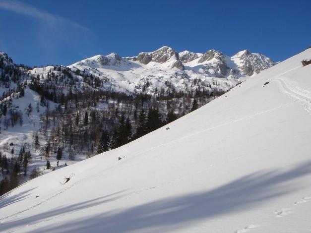 Foto: Manfred Karl / Ski Tour / Über die Gwechenberghütte auf den Sonntagskogel / In Bildmitte der Sonntagskogel / 30.01.2009 23:15:56