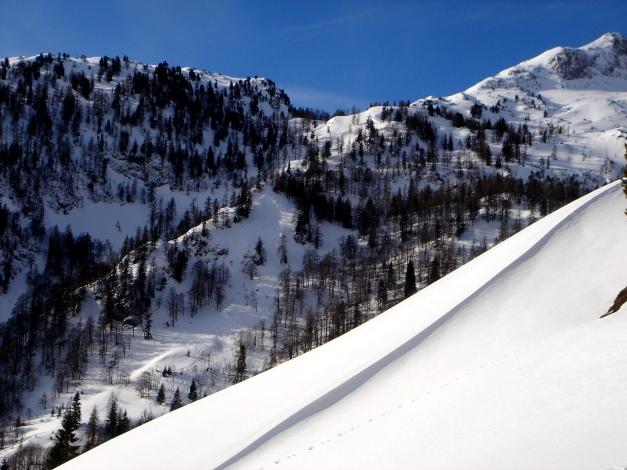 Foto: Manfred Karl / Ski Tour / Über die Gwechenberghütte auf den Sonntagskogel / Ahornkar - Abfahrtsvariante vom Sonntagskogel / 30.01.2009 23:15:19